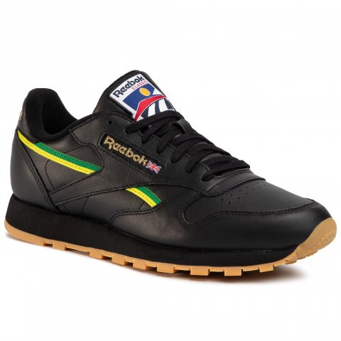 Boty Reebok - Cl Leather Mu EG6423 Black/Basgrn/Heryel (39)